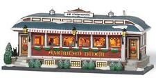 """Department 56 ~ Christmas In The City """"American Diner"""" ~ 3-D Interior Scene"""