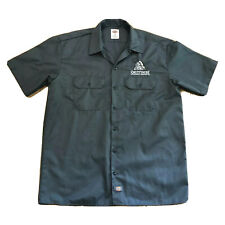 Smuttynose Brewing Gray Embroidered Work Shirt Button Down Mens Large Dickies