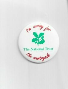 National Trust - I'm Caring For The Countryside - Badge 55mm dia. - UKFREEPOST