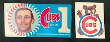 Chicago Cubs 1970 Kessinger Dunkin' Donuts Bumper Sticker + '70's Cubs Decal
