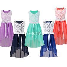 Blumenmädchen Kleid Mädchen Kinder Hochzeit Festkleider Kommunionkleid 116 - 164