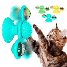 Interactive Cat Chew Toy Windmill Scratching Tickle Turntable Teasing W/ Catnip