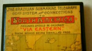 Mauchline Mercadian Ware Blotter Maps of S America & Africa Transatlantic Cable