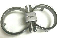 Salvatore Ferragamo Silver Mens Belt *Buckle ONLY *NEEDS PCS TO ATTACH TO STRAP*