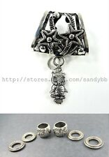 US Seller- owl animal scarf rings bail pendant set scarf charms wholesale