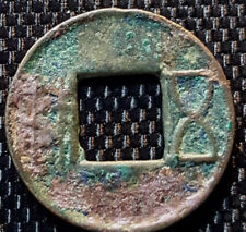 "Ancient China Han Dynasty (AD206) ""Wu Zhu"" cast coin (plus FREE 1 coin) #D1813"