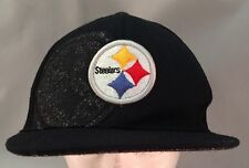 Reebok Pittsburg Steelers Football NFL Onfield Ball Cap Hat Black Gray Size S/M