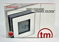 Info Square Travel Clock Trademark 8517S Excalibur Electronics Portable