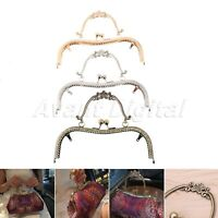 20.5cm Vintage Metal Frame Kiss Clasp With Handle For Handle Bag Purse Handbag