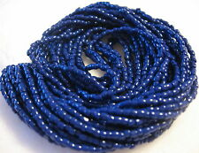 9/0 HANK 3 CUT NAVY BLUE OPAQUE CZECH GLASS SEED BEADS