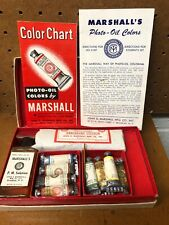 Vintage Marshall'sTransparent Photo Oil Colors Sampler/Student's Set w/Booklets