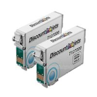 Reman Ink Cartridge 2 Pk for Epson T127220 127 T127 Extra High Yield Cyan