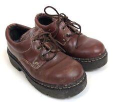 LONDON UNDERGROUND Women Brown Leather Punk Grunge Oxford Shoe 9 M