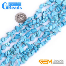 Assorted Stones 5-8mm Chips Stone Freeform Nugget Gravel Beads Strand 34