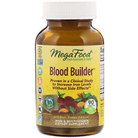 MegaFood Blood Builder 90 Tablets Dairy-Free, Kosher, Non-GMO, NSF Certified,