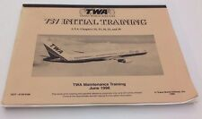TWA Trans World Airlines 757 Initial Training Maintenance Aircraft 1996