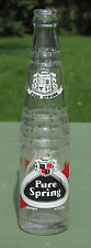 Vintage PURE SPRING SODA BOTTLE Glass PERFECT!