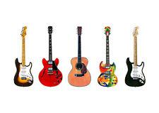 Eric Clapton's 5 Famous Guitars POSTER PRINT A1 Size