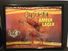 Flying Dog Brewery Poster Old Scratch Amber Lager Hunter S Thompson Mancave Beer