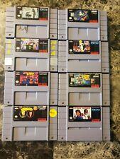 8 Super Nintendo SNES Video Games Beavis & Butthead X Men Batman Addams Family