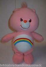 "Care Bears ""Cheer Bear"" 12"" Pink Plush ""2005"" Terry-Cloth-Like ""Fur"" Huggable!"