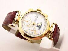 Wintex cronografo fasi luna in oro 18 kt g.f. valjoux 7768 in asta da 1 euro !!