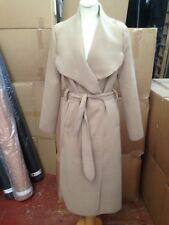 Ladies Camel Wrap Over Shawl Collar Coat ONE SIZE Ideal UK8-12
