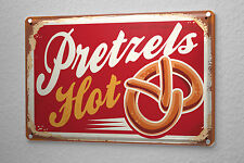 Tin Sign Retro Pretzels