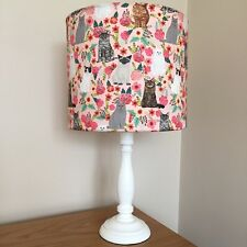 Cat Print Fabric Lamp