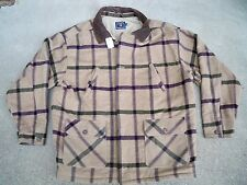 Vintage Chaps Ralph Lauren Wool & Leather Hunting Work Sport Jacket Coat Mens XL