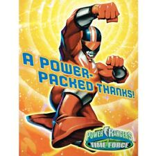 Power rangers greeting cards and invitations ebay power rangers time force thank you notes 8 birthday party supplies cards bookmarktalkfo Choice Image