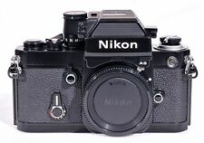 MINT CONDITION, Black Nikon F2 AS 35mm Film Camera w/ camera case