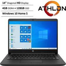 "New HP 14"" HD Laptop AMD Athlon 3050u 4GB RAM 128GB SSD HDMI Webcam Win10 S"