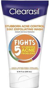 Clearasil Stubborn Acne Control 5 in 1 Exfoliating Wash Salicylic Acid EXP 03/22