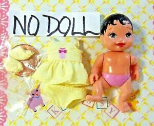 Krissy Happy Family Doll Clothes Itty Bitty Teeny Tiny Dress/Panty/Booties yellw