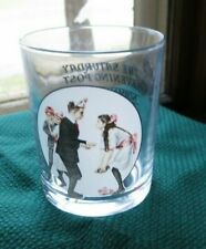 """Saturday Evening Post Highball Glass """"Pardon Me"""" cover from Jan 26,1918 depicted"""