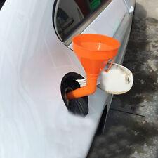 1pcs Car Water Oil Funnel Petrol Diesel Flex Spout & Filter Accessories Orange