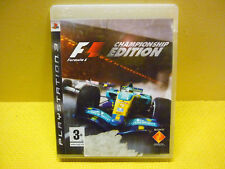 F1 Formula 1  PS3 PAL European 2, BCES 00005, with booklet.