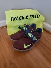 Nike Zoom Triple Jump Elite Track + Field Spikes Flywire 705394-600 ~ Size 14