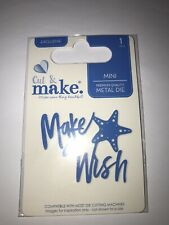 Cut & Make Mini Tropical Cutting Die - Make a wish sentiment