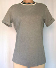 MARNI GREY COTTON FOLDED SHORT SLEEVES TOP MULTICOLOR ROUND NECK TOP SIZE 44