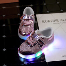 New Fashion Baby Toddler Girls Youth Kids Light Up Led Luminous Star Sneakers