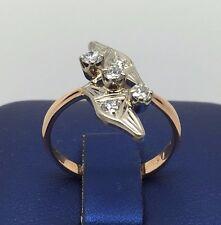 14K BEAUTIFUL TWO TONE YELLOW AND WHITE GOLD .50 CTW DIAMOND LADIES RING