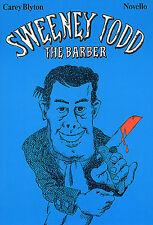 Sweeney Todd Le Barbier vocal score apprendre à chanter voix Piano Music Book