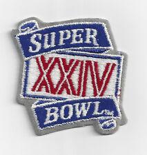 1990 Super Bowl XXIV patch SF 49ers vs Denver Broncos Joe Montana San Francisco