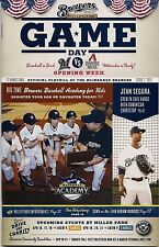JEAN SEGURA ON COVER MILWAUKEE BREWERS 2013 OFFICIAL GAMEDAY PROGRAM ISSUE #2