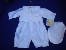 BABY BOYS CHRISTENING SUIT 9/12- WHITE IVORY STYLE 9510 BY COUCHE TOT
