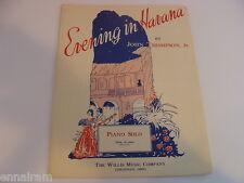 Evening in Havana Habanera 1941 sheet music piano solo John Thompson