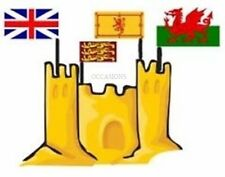 England UK Wales Union Jack Sand Castle Pit Beach Flag Summer Toy Craft