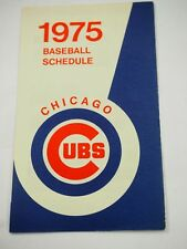 1975 Chicago Cubs BaseBall Schedule showing both Home and Away Games